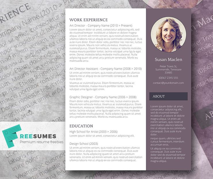 Free Resume Template - The Sophisticated Candidate Template and - free resume template for word 2010