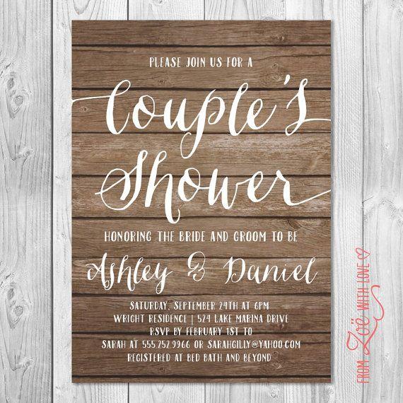 Co Ed Bridal Shower Invitations
