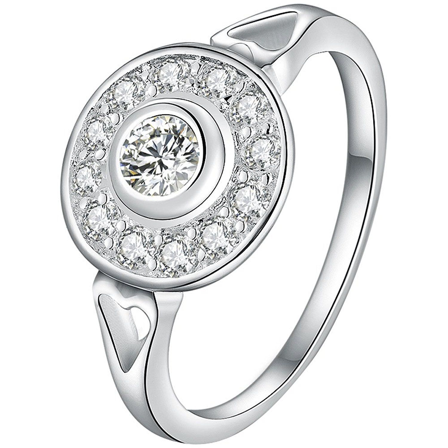 Penny Deals BOHG Jewelry Womens 925 Sterling Silver Plated Cubic