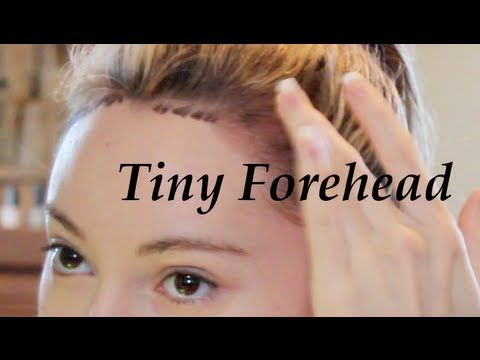 Get A Tiny Forehead Tutorial Lower Hairline High Forehead Hairline Forehead