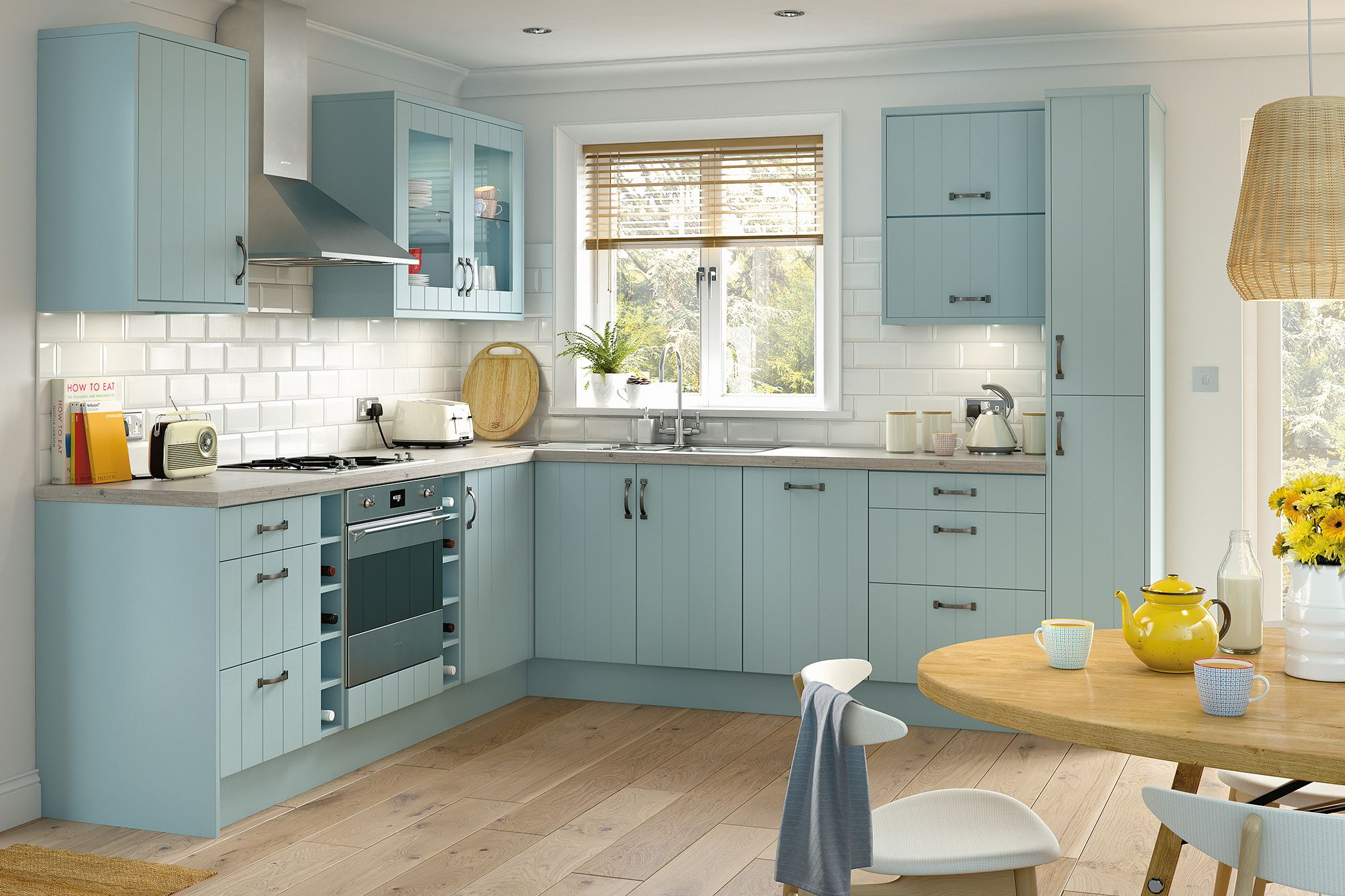 The kit+kaboodle classic Griddle kitchen range from Homebase will ...