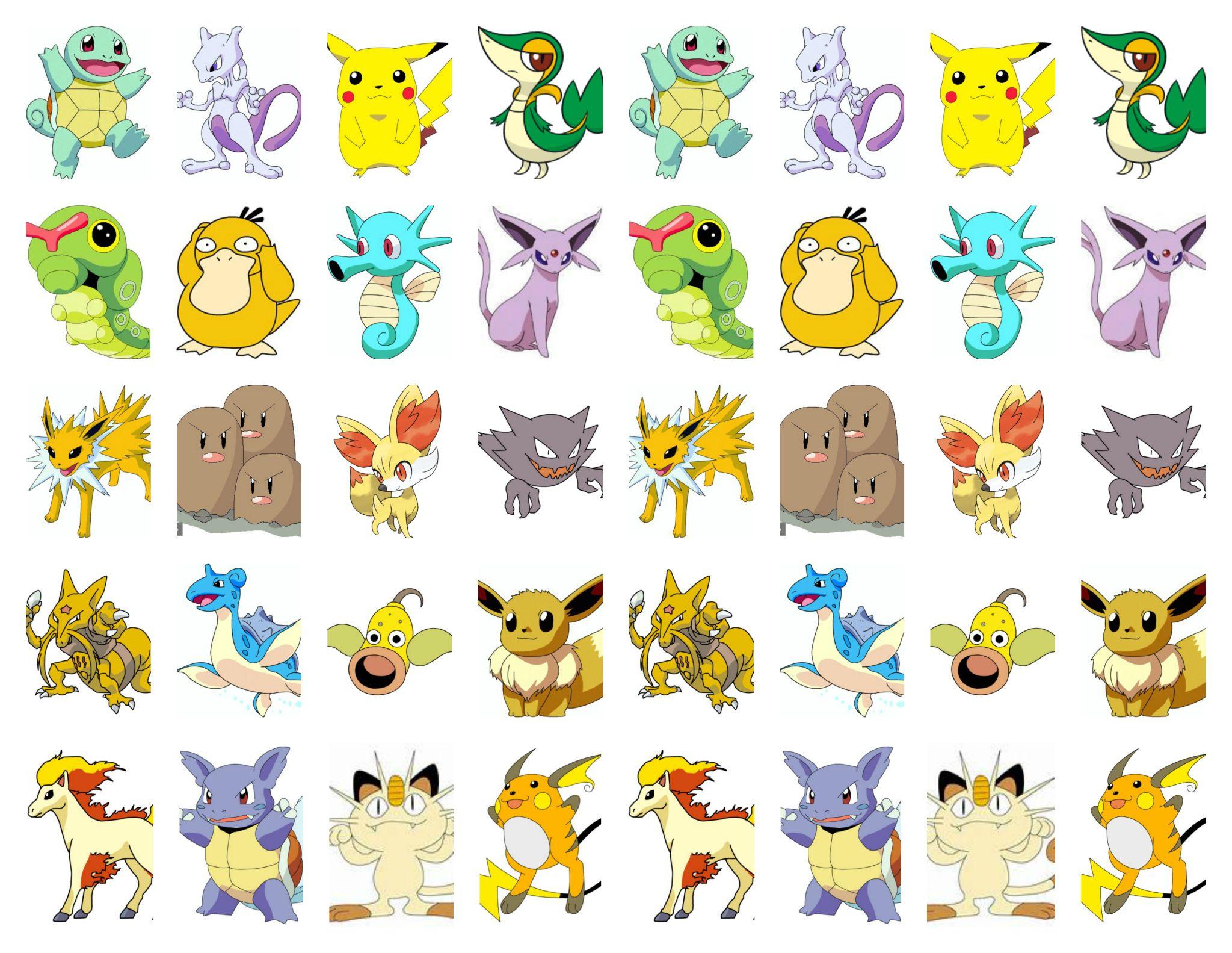 Beau Image à Imprimer De Pikachu