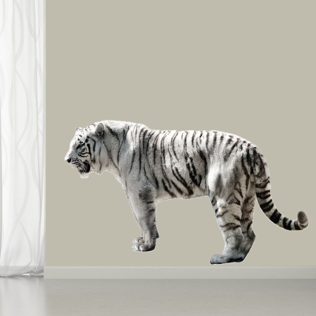 real life white tiger printed wall decal wall stickers tigers real life white tiger printed wall decal sweetums wall decals