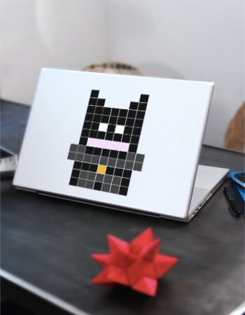 Batman Pixel Art Perles à Tisser Ceinture Jaune Et