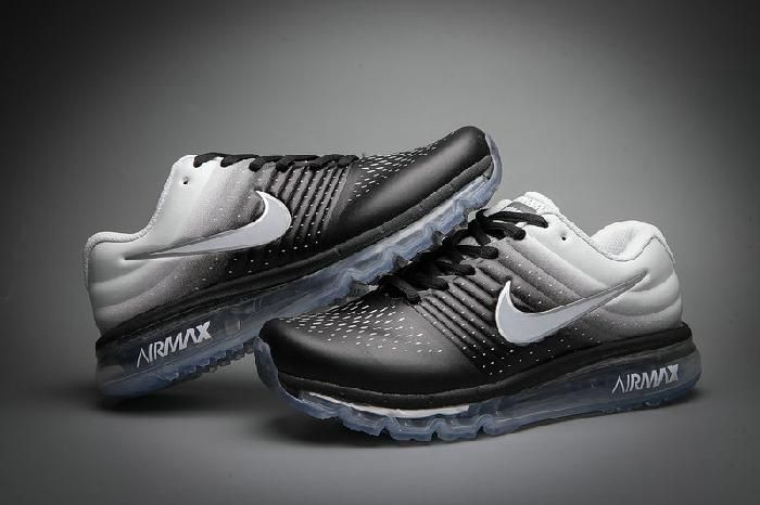 Factory Nike Air Max 2017 Leather White Black Sneakers Online - $74.99