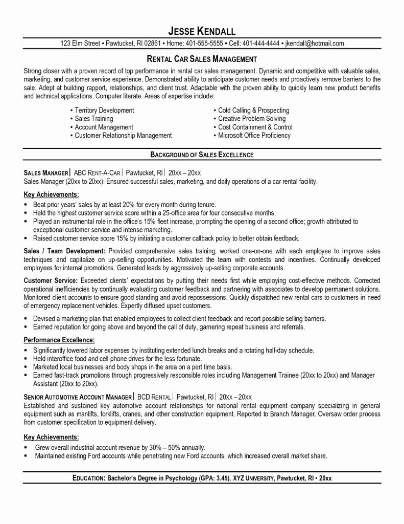 50 Fresh Resume for Car Salesman in 2020 (With images