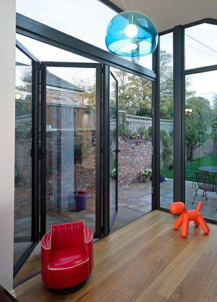 Les Portes Pliantes Design En 44 Photos Porte Pliante Porte Coulissante Exterieure Et Fenetre Coulissante