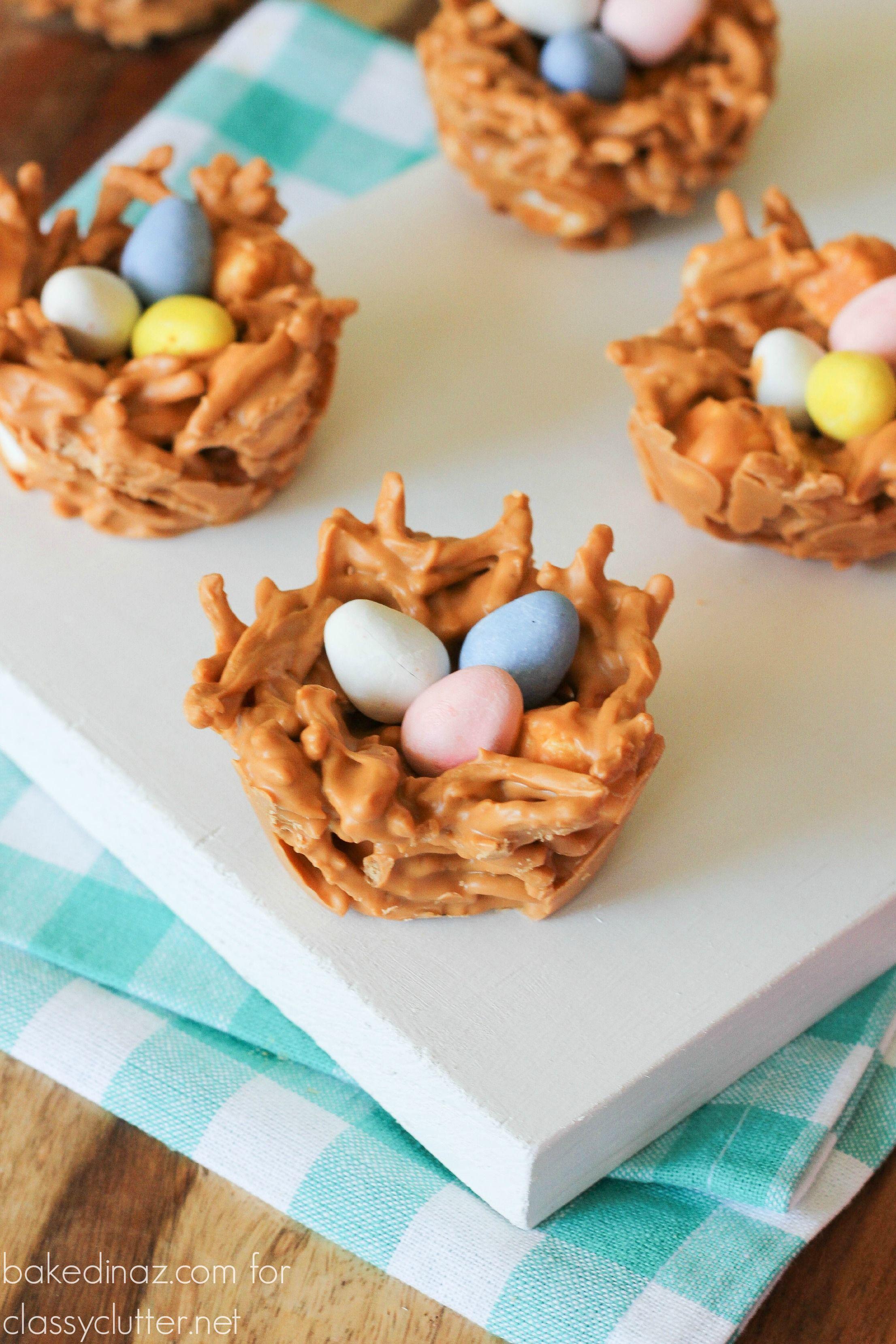 Butterscotch Bird Nests Easter Egg Candy Easter Recipes