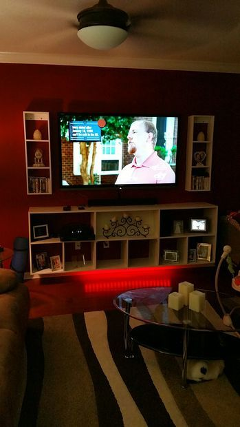 Wall Mounted Plywood Entertainment Center | Entertainment