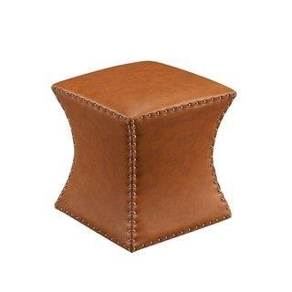 Superb Faux Leather Bohemian Square Ottoman Overstock Com Inzonedesignstudio Interior Chair Design Inzonedesignstudiocom