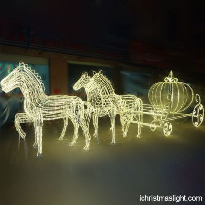 event decorative outside led horse carriage - Christmas Lighted Horse Carriage Outdoor Decoration