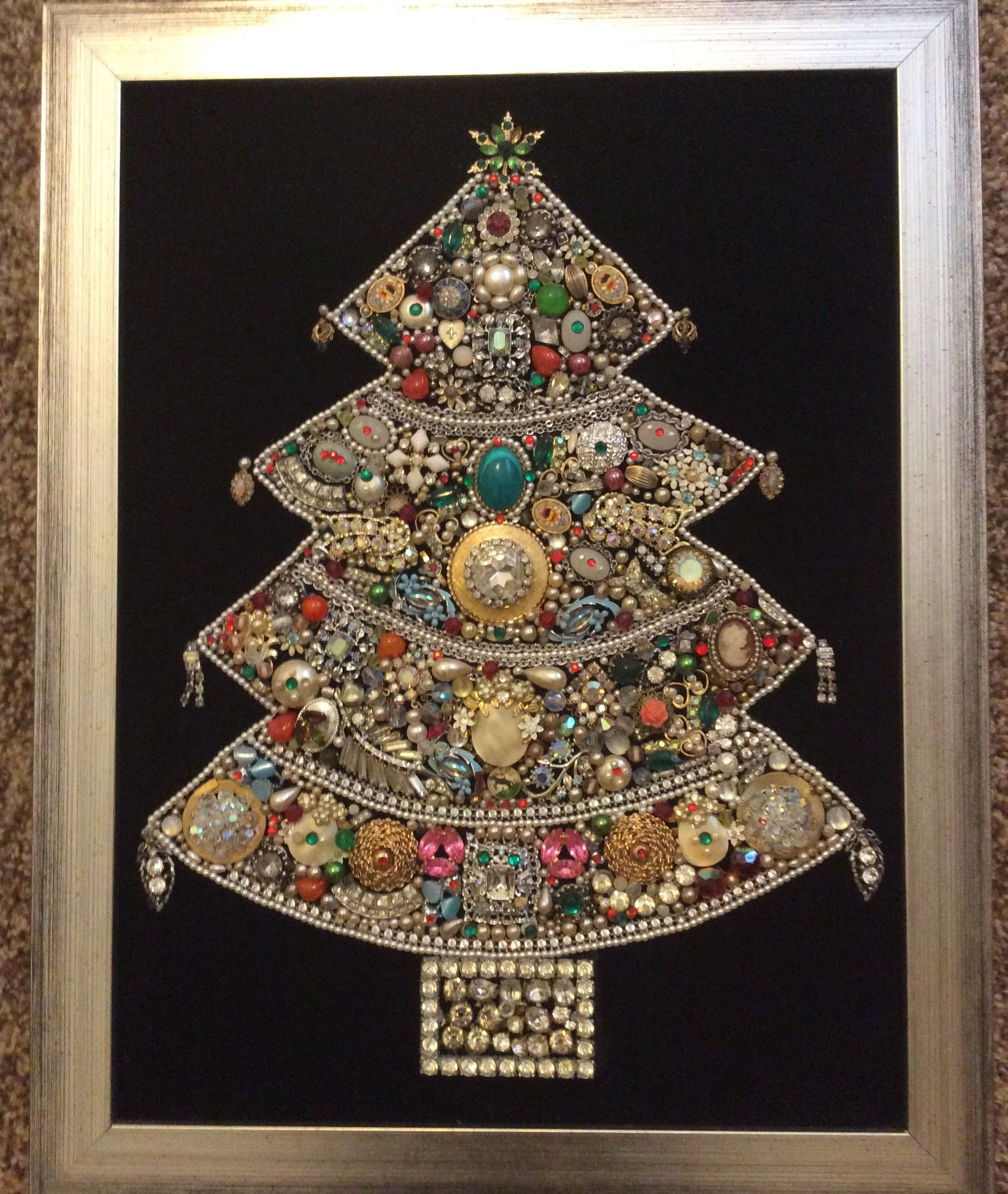 Jeweled Christmas tree picture found in an antique store in Monrovia