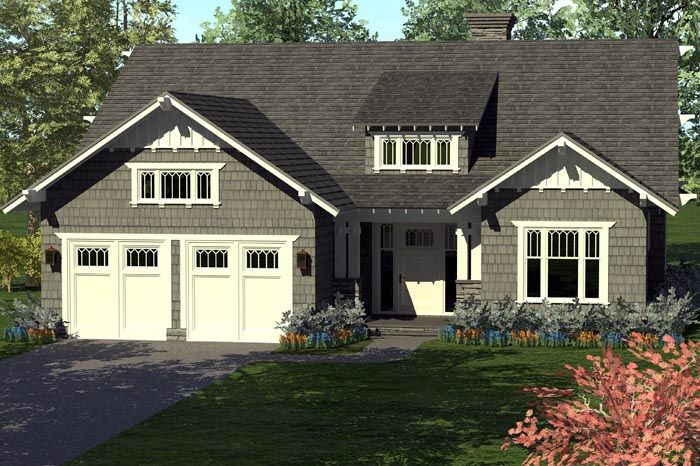 Smaller Home Plan with Volume - 17675LV | 1st Floor Master Suite, CAD Available, Cottage, Craftsman, Den-Office-Library-Study, Narrow Lot, PDF | Architectural Designs