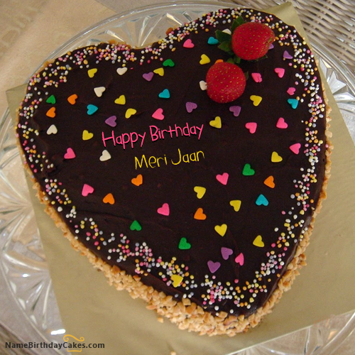 I have written meri jaan Name on Cakes and Wishes on this