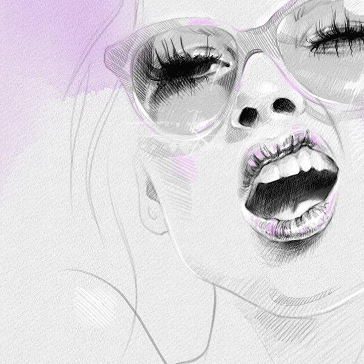 sassy in shades drawing fashionart fashiondrawing drawingoninstagram instagramer