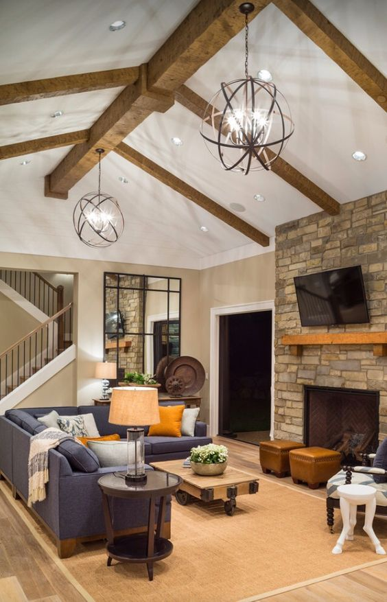 New Cathedral Ceiling Family Room