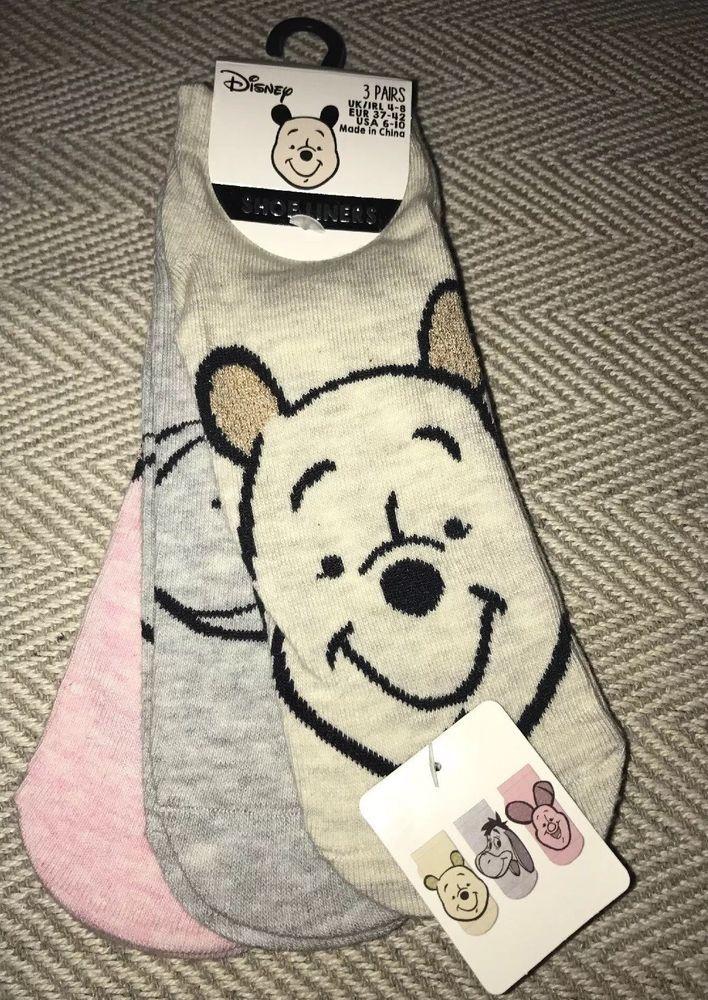 Disney Girls Cosy Socks Women/'s Striped Fluffy Size UK 4-8 Primark
