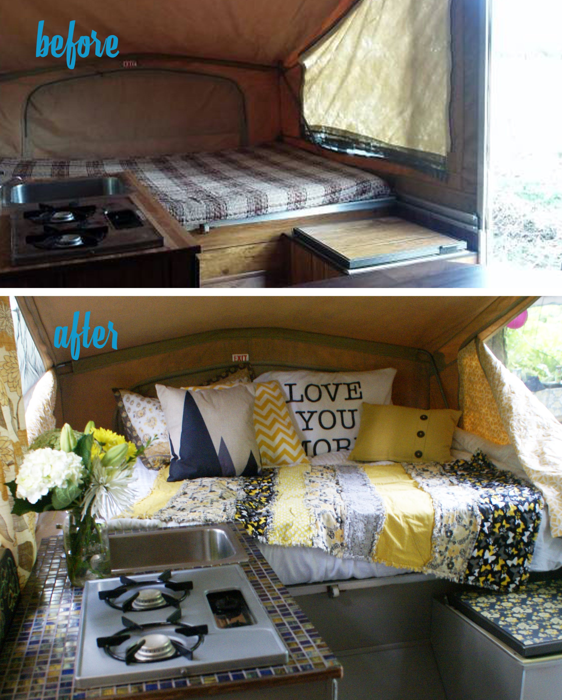 1986 Palomino Pop Up Tent Trailer Before And After Redo In