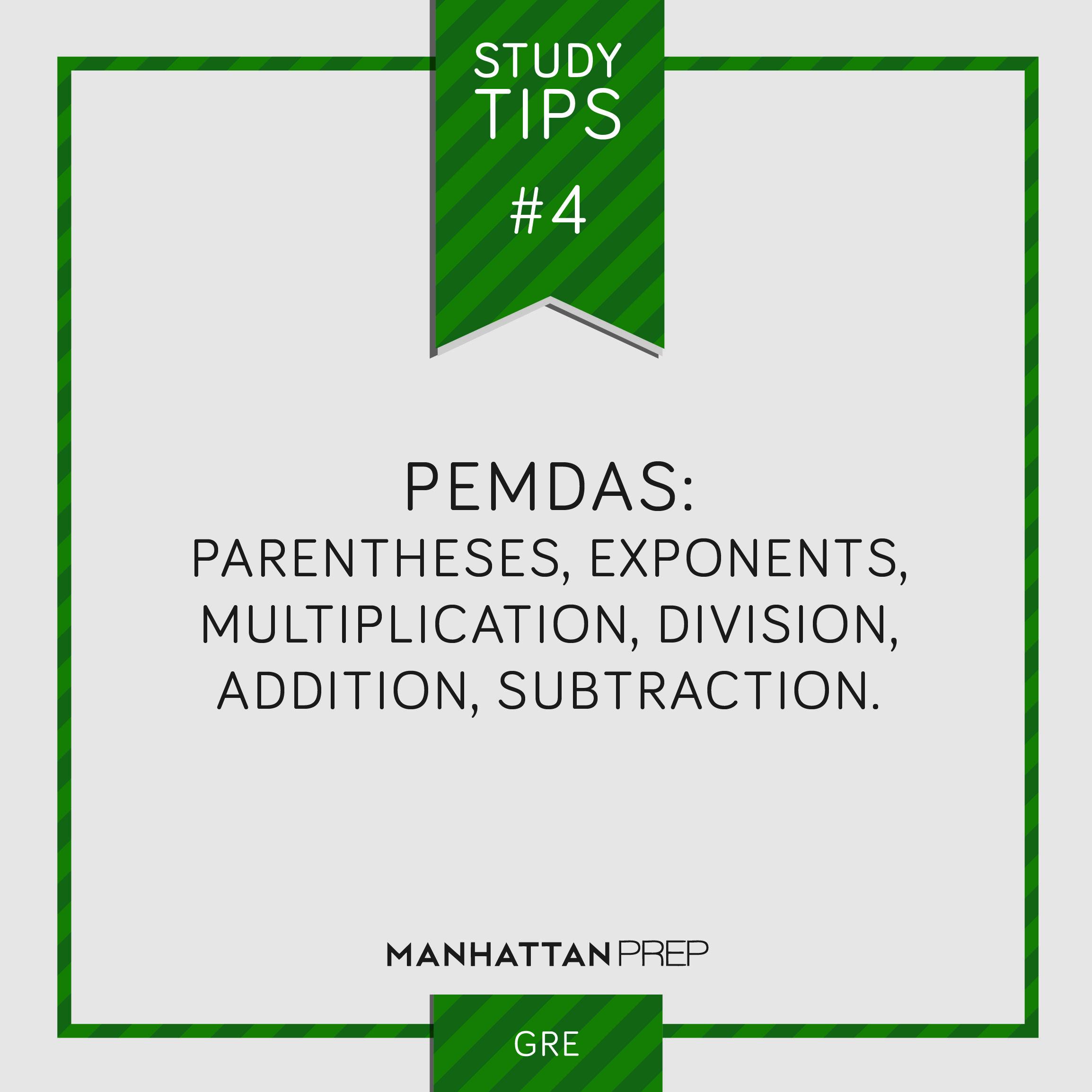 Studytips Gre