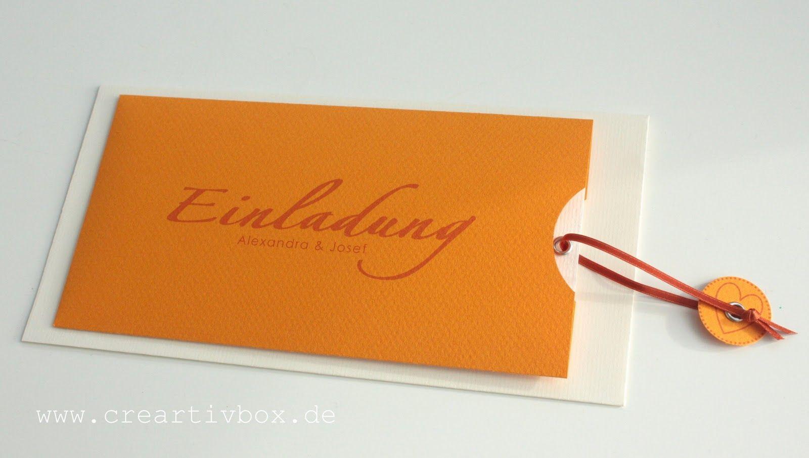 creartivx Hochzeitseinladungen ganz orange