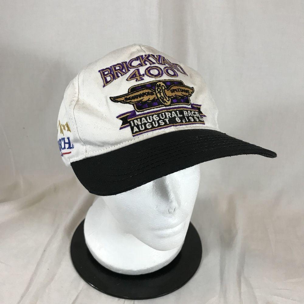Brickyard 400 SnapBack Hat Inaugural Race August 6th 1994 NASCAR Busch Indy  USA  b8e4be1f7b6f
