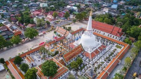 imagesthai.com royalty-free stock images ,photos, illustrations, music and vectors - Aerial view of Wat Pra Maha Thad, in Nakhon Sri Thammarat provin