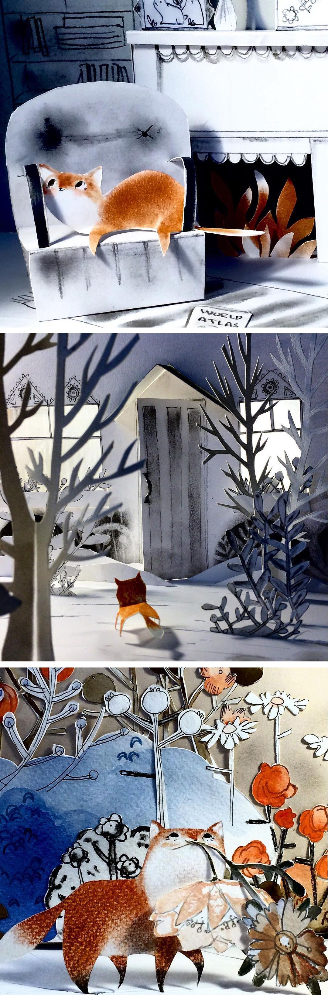 Cut Paper Dioramas Chronicle the Storybook Adventures of a Fox
