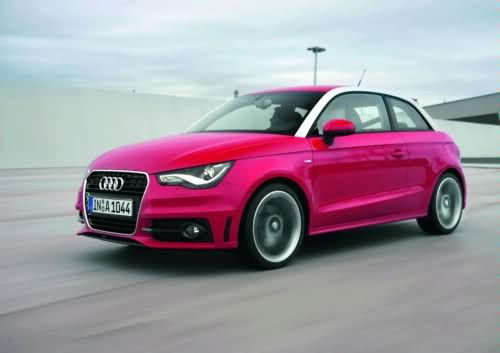audi a1 and its pink. Black Bedroom Furniture Sets. Home Design Ideas
