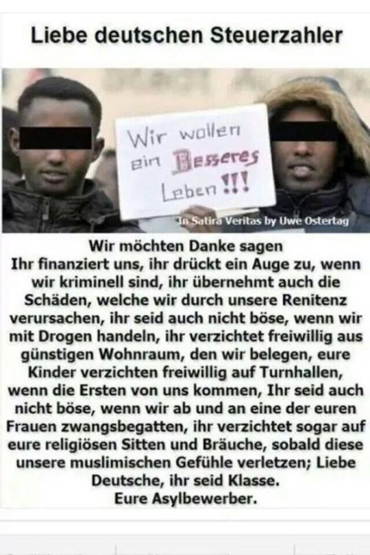 Liebe Deutsche Steuerzahler Wir Wollen Danke Sagen Ihr Finanziert