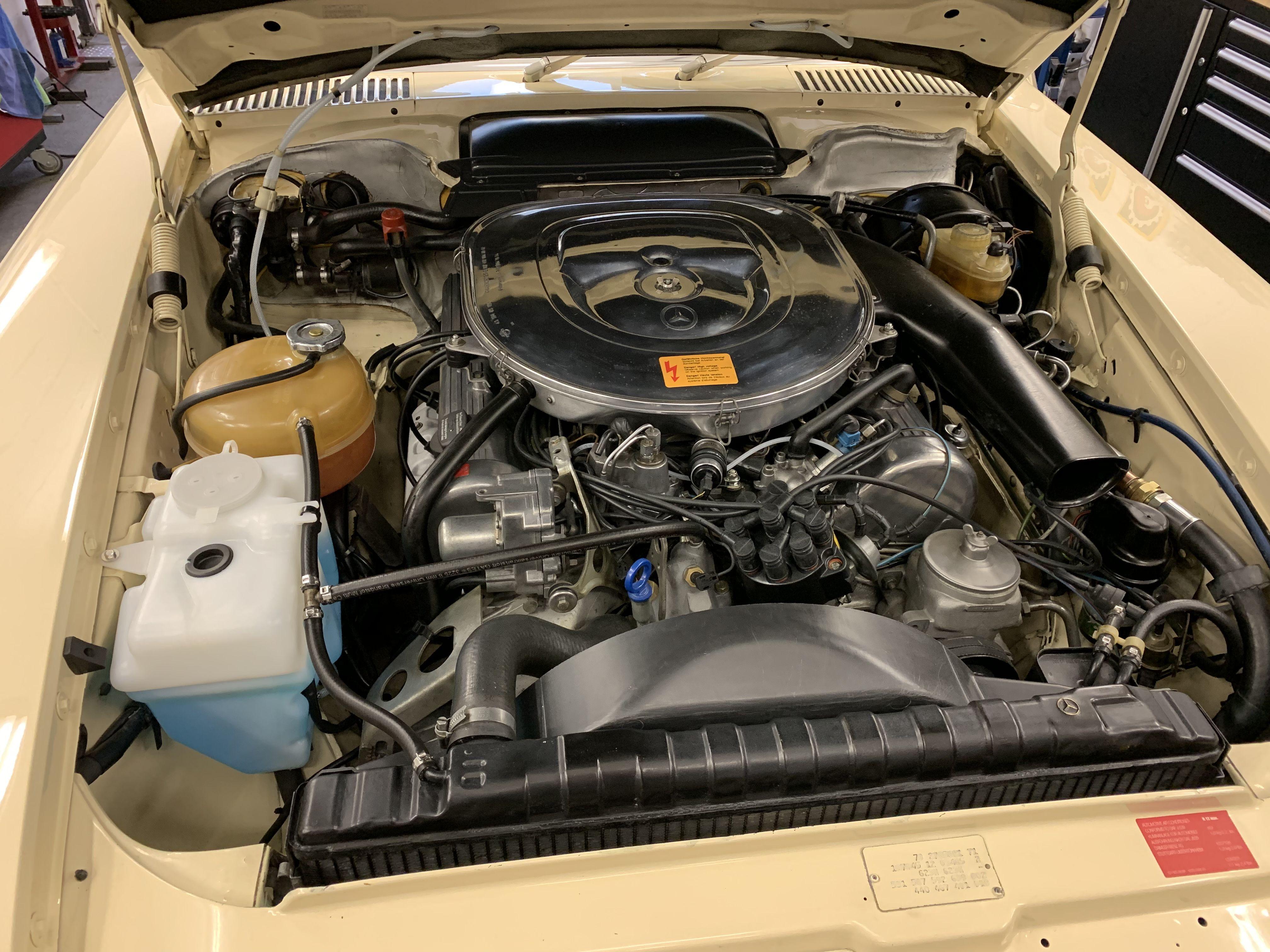 Mercedes 380sl R107 M116 Engine Mercedes Sl Mercedes Benz Restoration