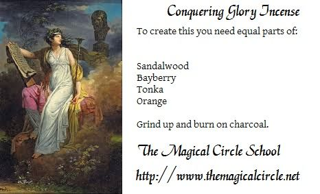 An incense to honor the Muse Calliope. The Magical Circle School http://www.themagicalcircle.net