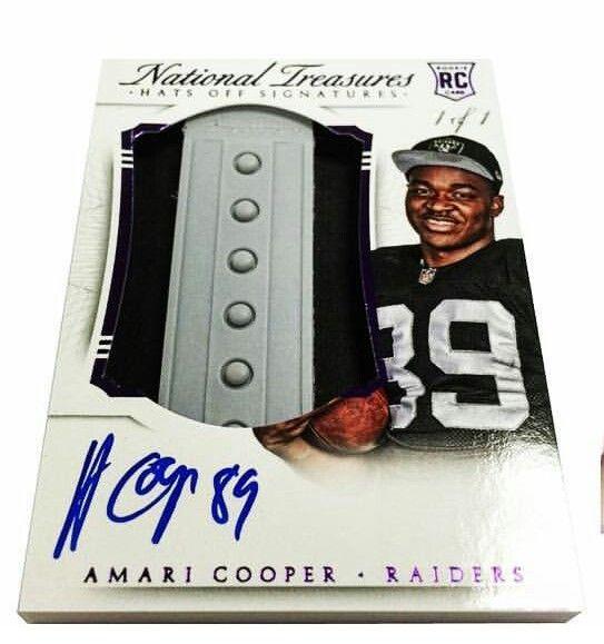 Amari Cooper Hats f Signatures