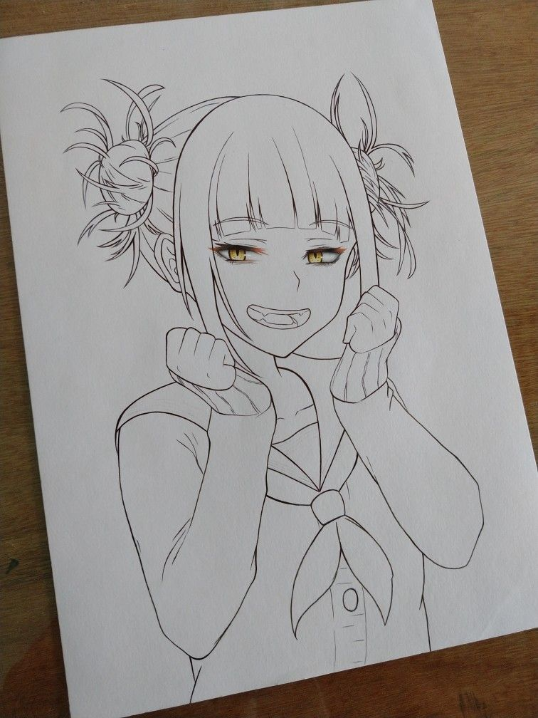Line Art Himiko Toga Friends Sketch Anime Character Drawing Drawings