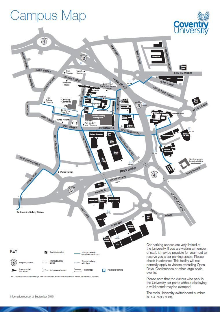 Campus Map Information card edition