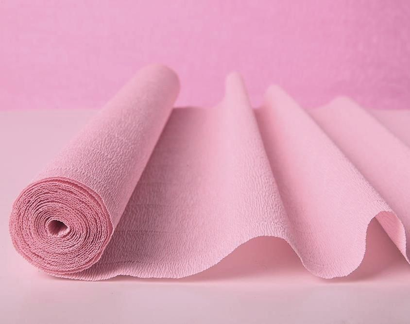 Superb Light Pink Crepe Paper Table Runners From Italy   $7.95   SALE $7.45