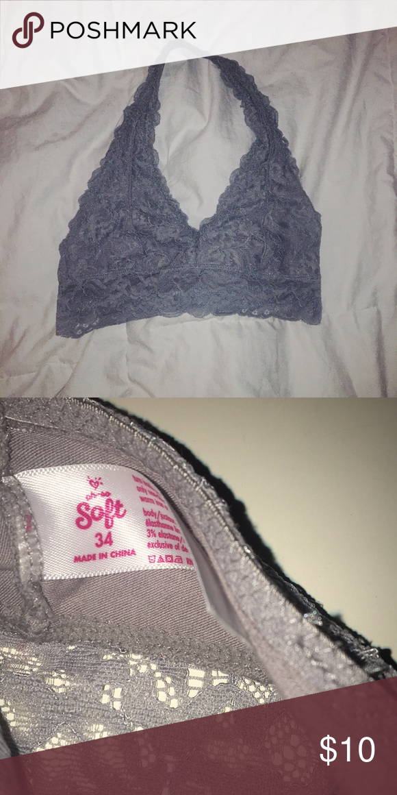 223bde7da32 halter bralette gray size 34 lace halter bralette from justice. fits like a  womens small  32 or 34 A or B. in great condition worn no more than 3x  Justice ...