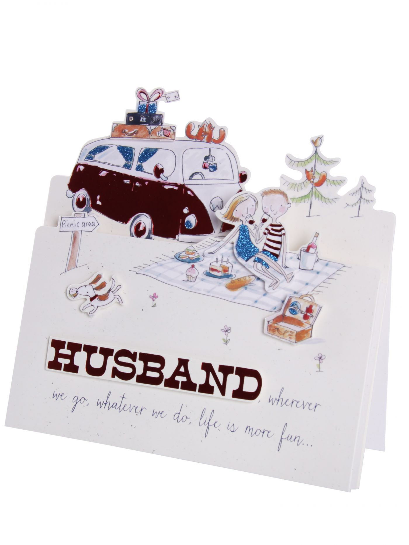 Lovely Husband Picnic Pop Out Birthday Card Birthday Cards Cards