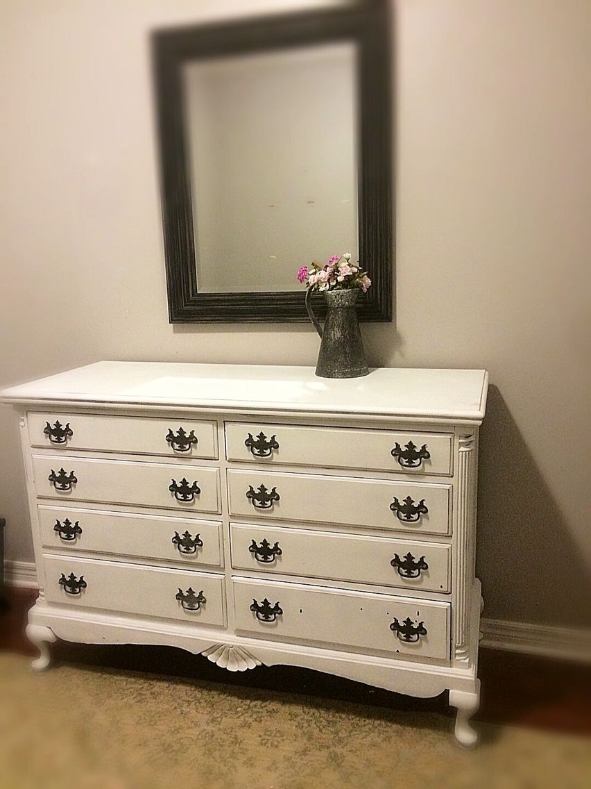 BEAUTIFUL White Unique Vintage Shabby Chic French Provincial Bedroom Dresser Buffet Baby Changing Table