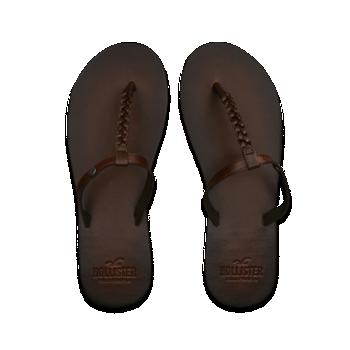 2159213b5421 Hollister Leather Flip Flops