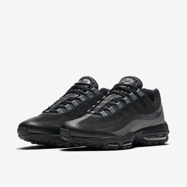 Nike Air Max 95 Ultra Essential Mens Black Dark Grey
