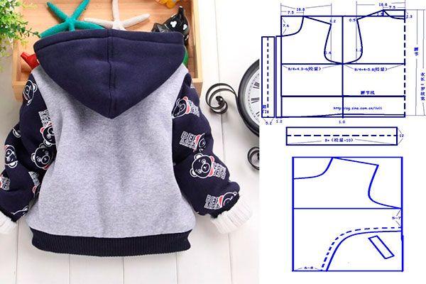 molde-para-hacer-una-chaqueta-para-nino-2   Dla maluszka   Pinterest ...