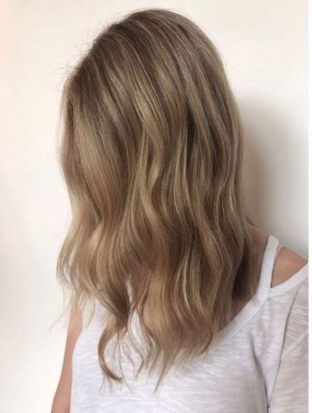 Subtle dark blonde. Hair by SALON by milk + honey stylist, Krystal S #darkblondehair