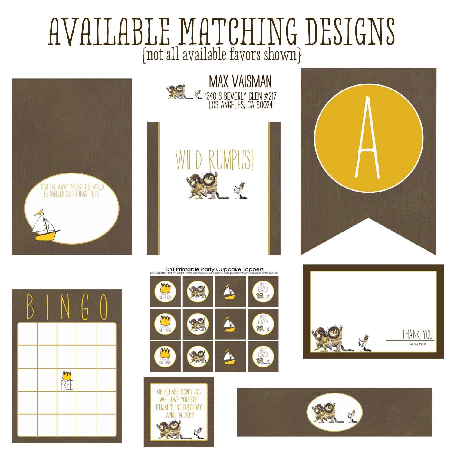 Where the wild things are birthday party invitations or baby shower ...