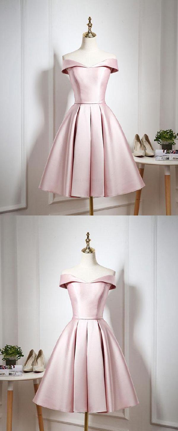 Cheap soft cute prom dresses pink prom dresses short prom dresses