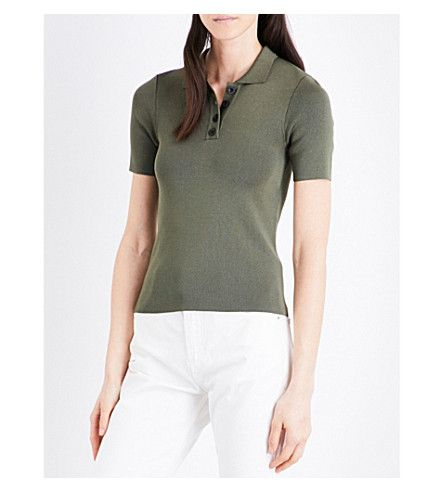 CLAUDIE PIERLOT Fitted Polo-Collar Top. #claudiepierlot #cloth #tops