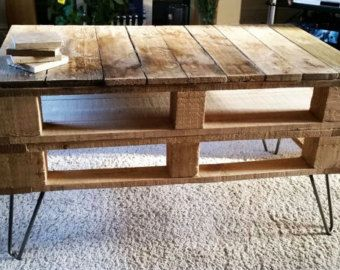 Pallet Coffee Table Bare Wood Industrial Reclaimed Upcycled Vintage Loft in Home Furniture & DIY Furniture Tables