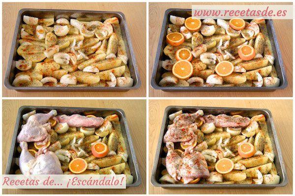 Receta de patatas naranja