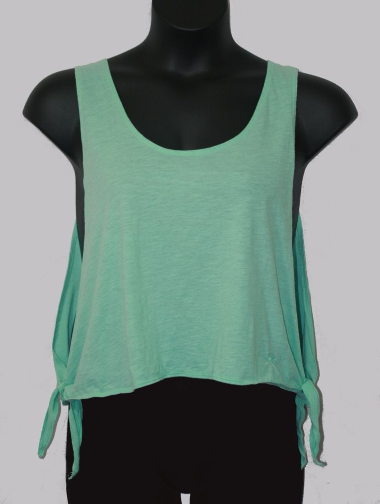 79ccba547f45b Victoria s Secret PINK Green Open Side Tie Tank Top Medium Women s Fashion  Spring Summer