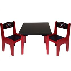 University Of Georgia Bulldogs UGA Kids Table And Chairs Set