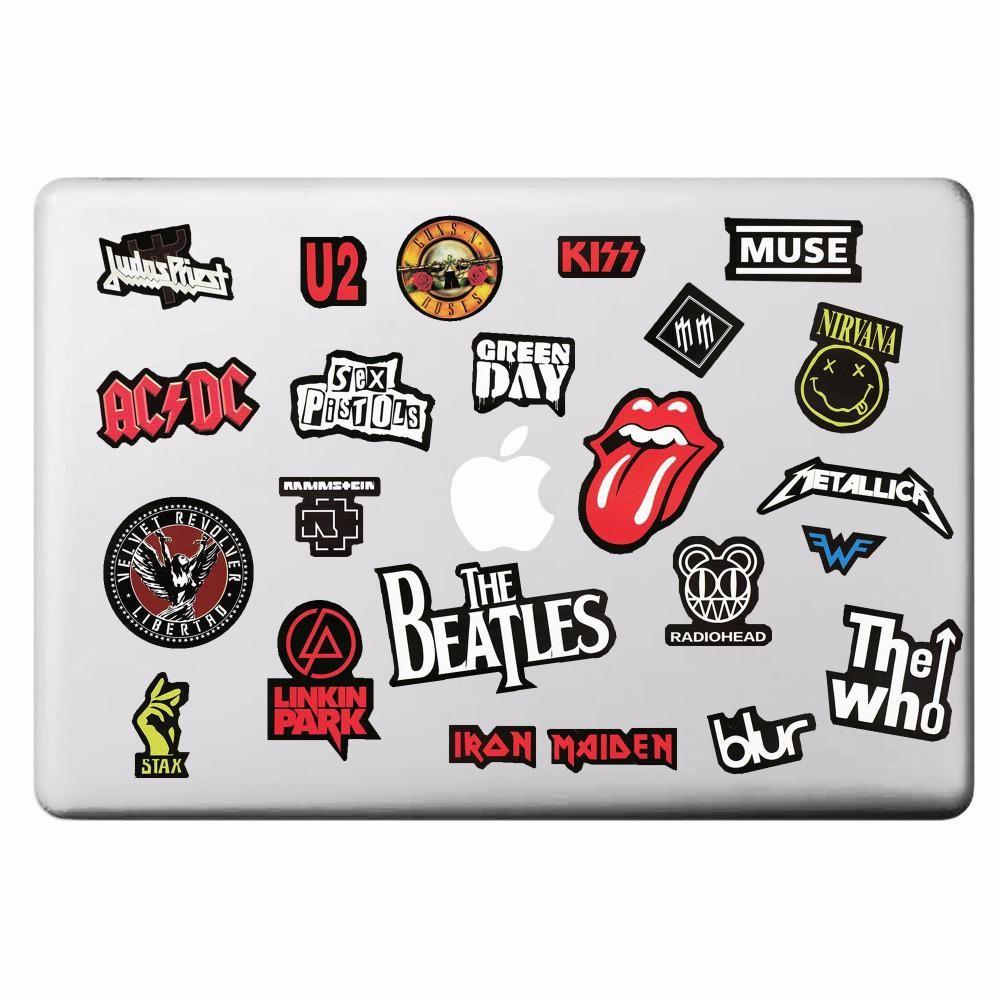 Rock Band Music Theme Laptop Sticker For Macbook Decal Pro Air Retina 11 13 15 Inch Mac Cover Skin Hp Laptop Stickers Cool Laptop Stickers Notebook Stickers [ 1000 x 1000 Pixel ]